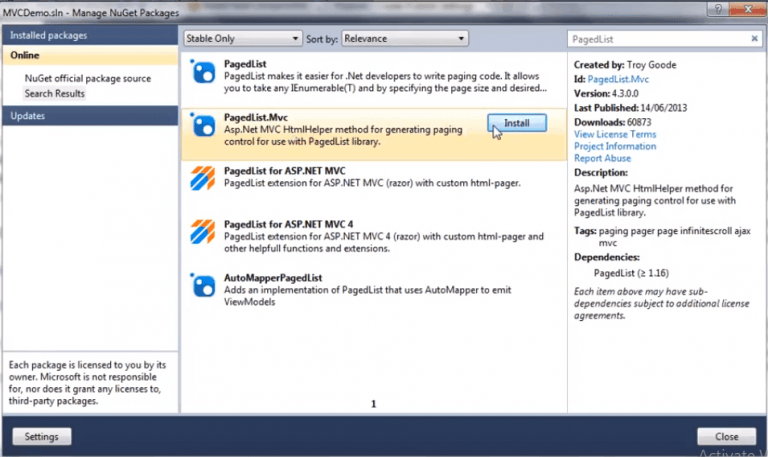 How to Implement Pagination in ASP.NET MVC Application.
