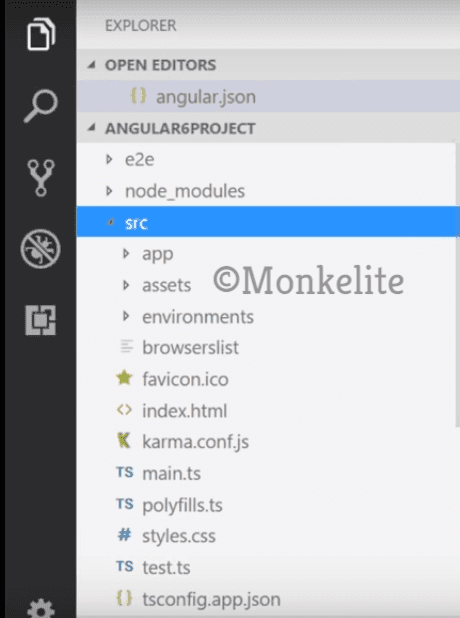 folder structure in angular