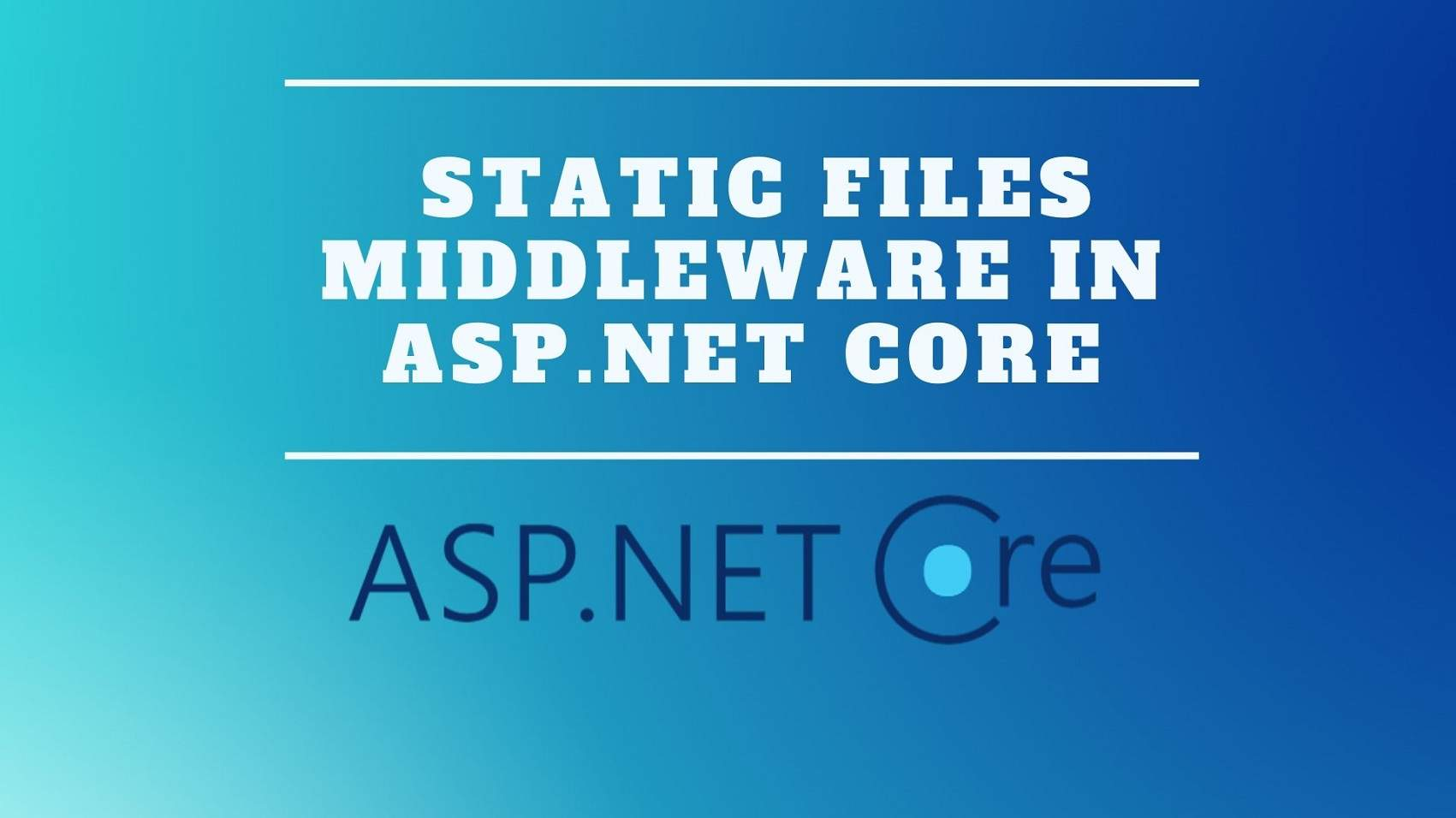 Static Files Middleware in ASP.NET Core