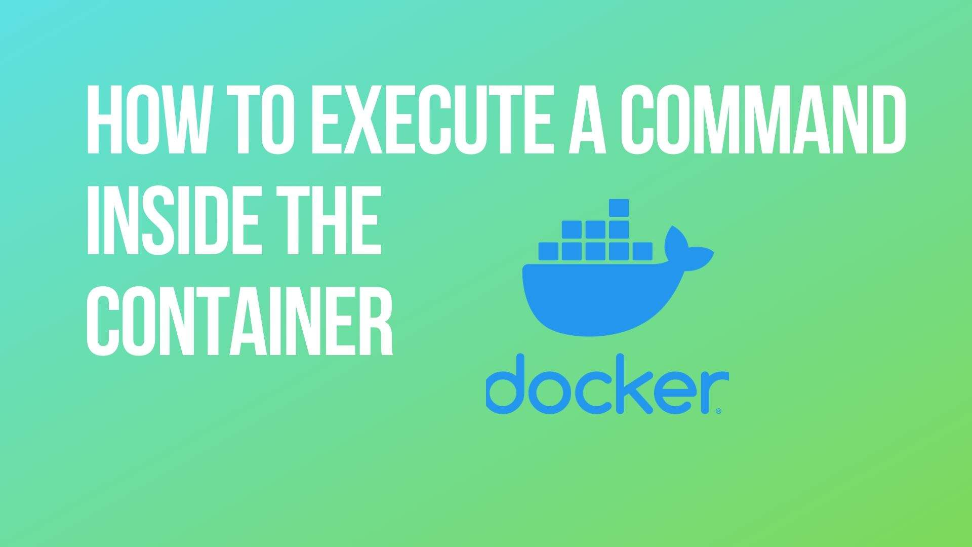 How to execute a command inside the container