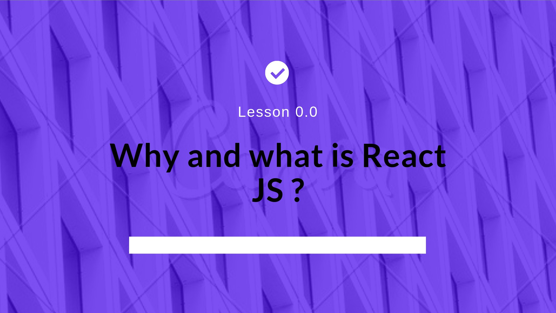 What and why React JS?
